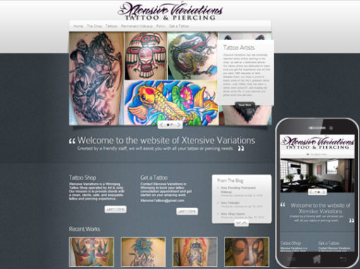 Tattoo Shop Website