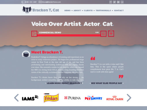 Voice Over Portfolio Template